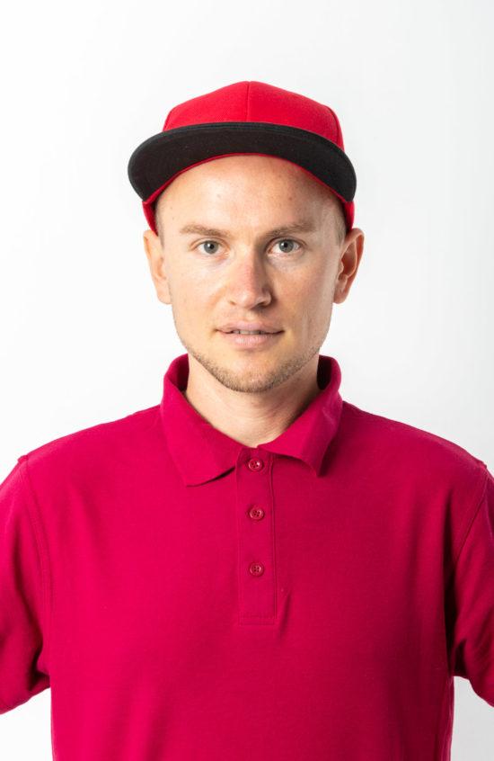 Бейсболка 6-ти клинка красная