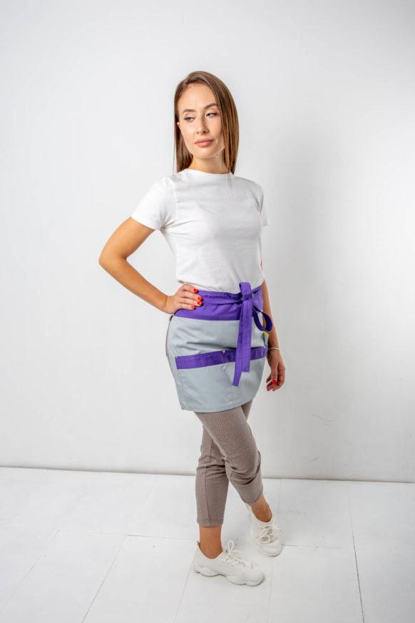 Сальса светло-серый с фиолетовыми вставками