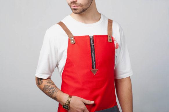 Маргарита красный с серым карманом
