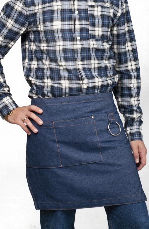 Капри синий джинс