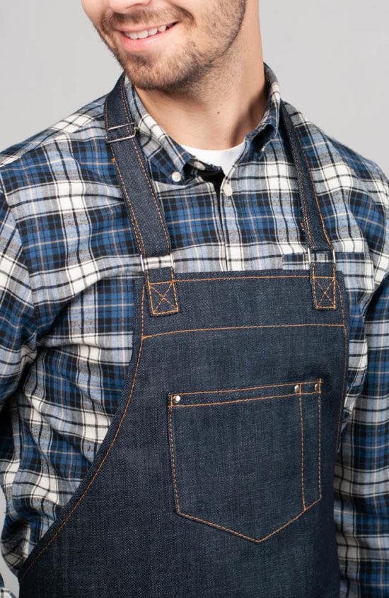 Олд фешен темно-синий джинс
