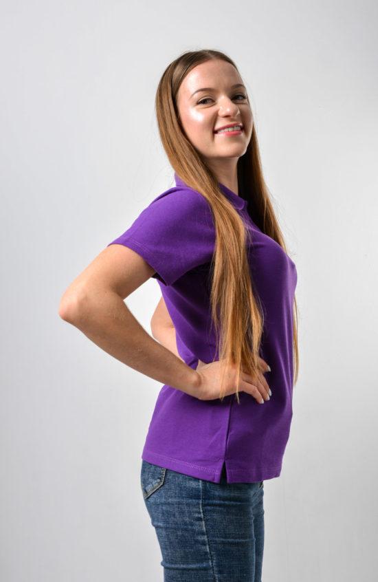 Поло 2 фиолетовая