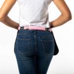 Ранчо черный джинс с розовыми вставками