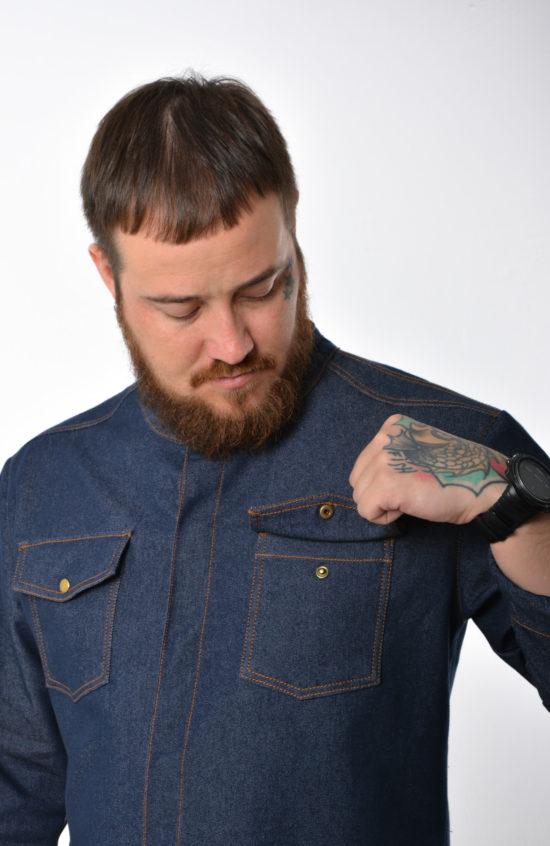 Китель Ковбой синий джинс