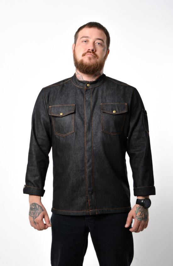 Китель Ковбой черный джинс
