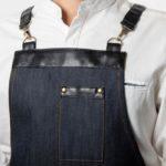 Табаско темно-синий джинс с черными вставками