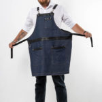 Табаско синий джинс с черными вставками