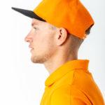 Бейсболка 6-ти клинка оранжевая