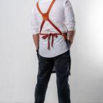 Табаско синий джинс с рыжими вставками