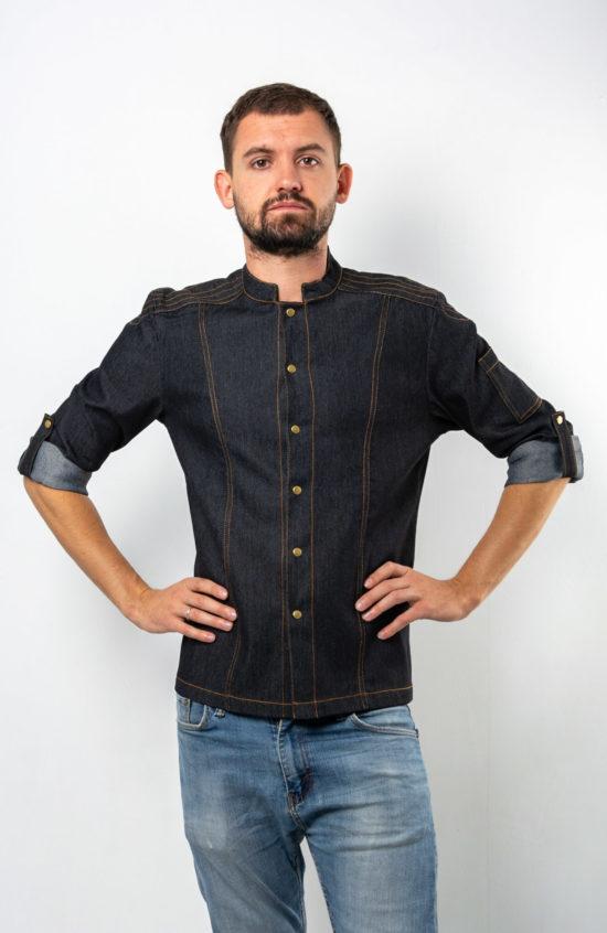 Мото черный джинс