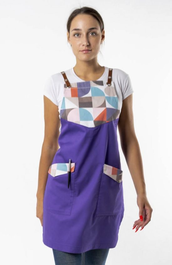 Баже фиолетовый с принтом геометрия