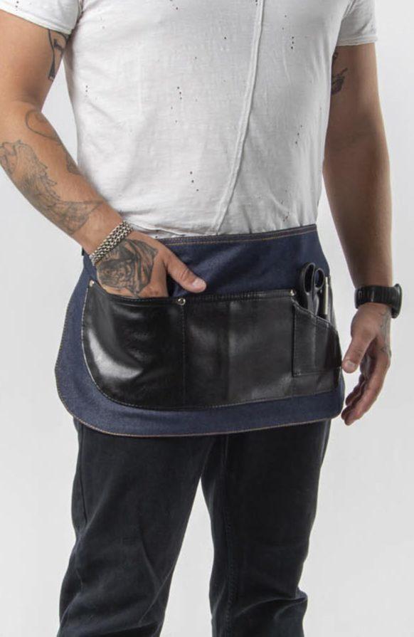 Ранчо синий джинс с черными вставками