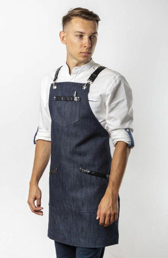 Самбал темно-синий джинс с черными вставками