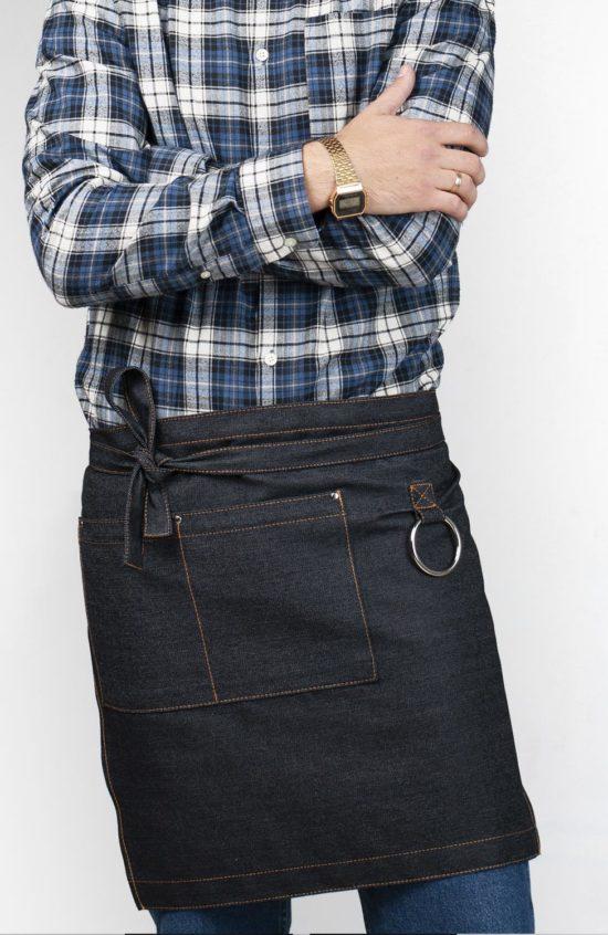 Капри черный джинс