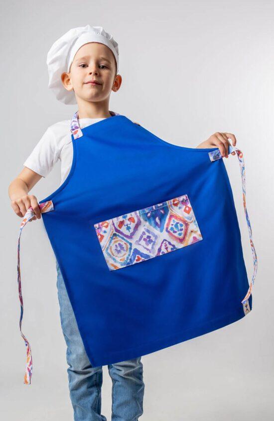 Детские Фартуки Детский фартук с яркими карманами