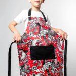 Детские Фартуки Детский фартук из принтованной ткани